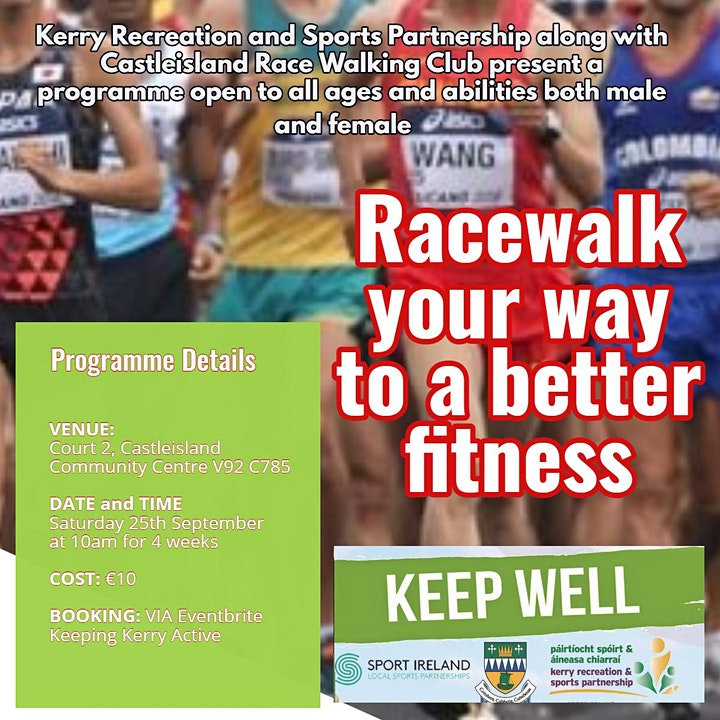 Keeping Kerry Active - Race walk your way to a better fitness image