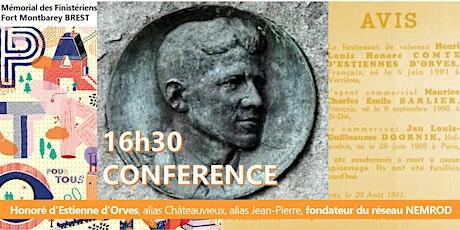 Patrimoine&Mémoire-Honoré d'Estienne d'Orves-Conférence billets