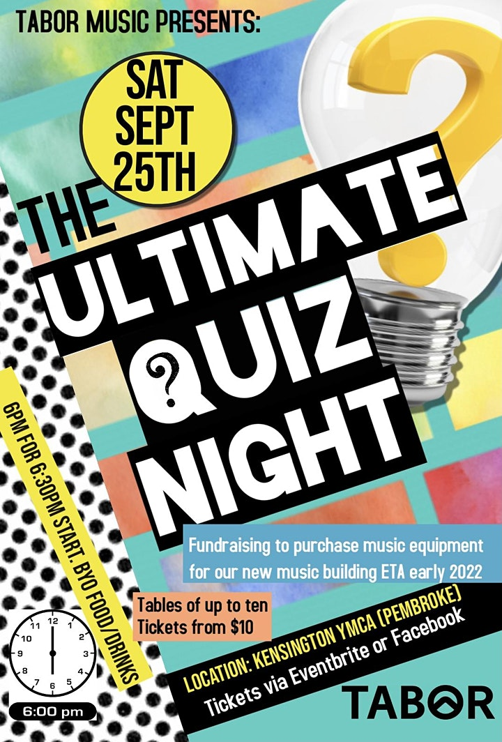 Tabor Ultimate Quiz Night image