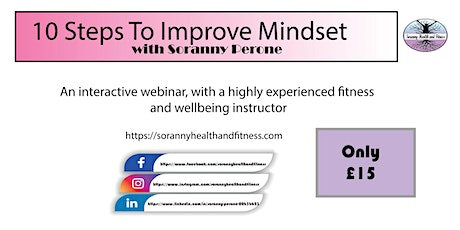 10 Easy Steps To Improve Mindset tickets