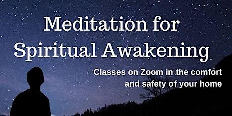 Zoom / Phone Free class: Meditation for Spiritual Awakening - Mondays tickets