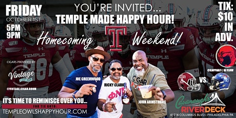 TEMPLE MADE HAPPY HOUR - HOMECOMING WEEKEND tickets