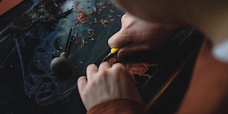 Autumn lino print workshop in the Peak District tickets