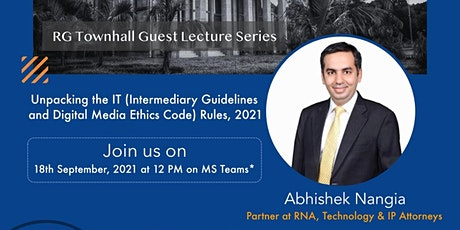 RGTownHall Guest Lecture by Mr. Abhishek Nangia tickets