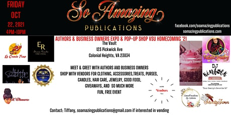 VSU Homecoming 2021 Author Expo & Business Owner Expo & Pop-Up Shop tickets