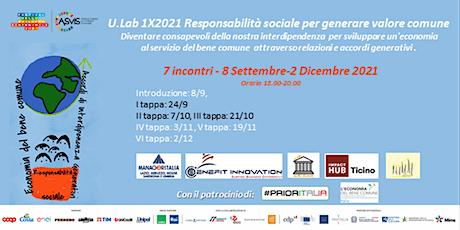 Ulab1X 2021 Responsabilità sociale per generare valore comune biglietti