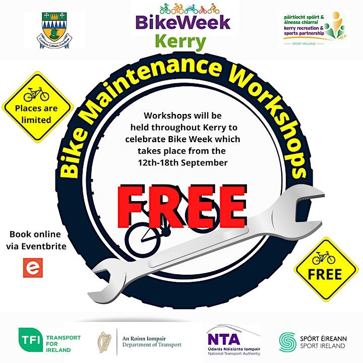 Bike maintenance and repair workshop- Tralee image