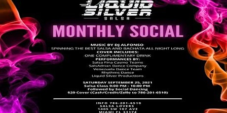 Salsa and Bachata Social / September 25th @Salsa Lovers $20 at the Door tickets