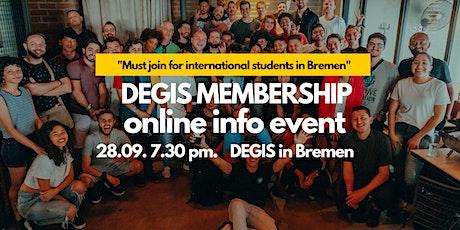DEGIS Bremen Membership Info Event tickets