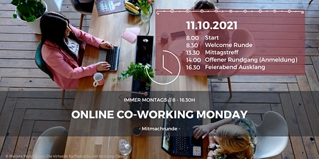 Online Co-Working Monday Tickets