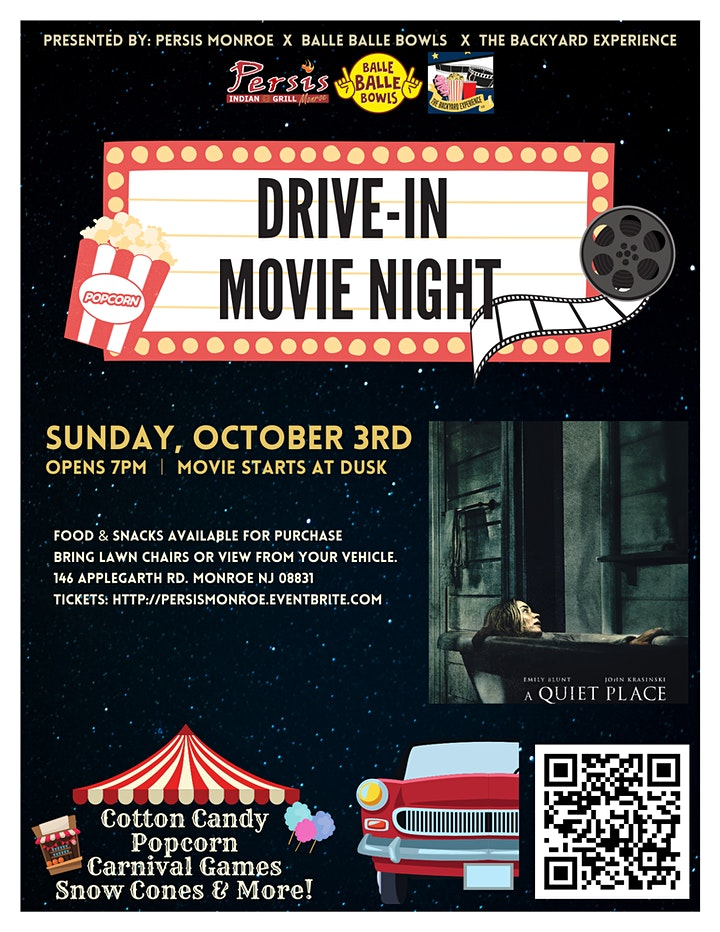 Drive In Movie Night ft. A Quiet Place image