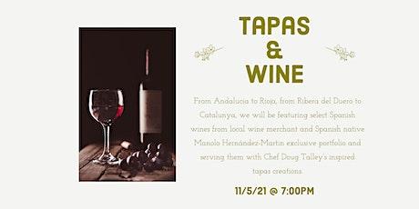 Tapas & Wine Dinner tickets