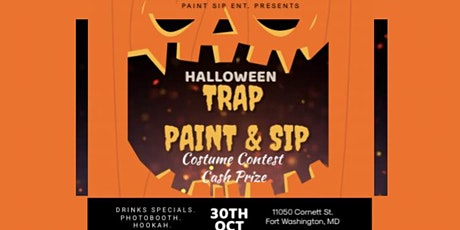 MD's hottest Paint Sip N Trap Halloween Party tickets