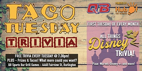 All Things Disney - Monthly Trivia Night at QB - Taco Tuesday Trivia Night tickets