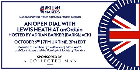 Open Dial 3 with Lewis Heath at anOrdain, hosted by Adrian Barker tickets