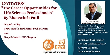 The Career Opportunities for Life Science Professionals: Bhausaheb Patil UK tickets