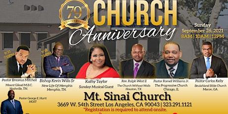 Mt. Sinai 79th Church Anniversary Services tickets