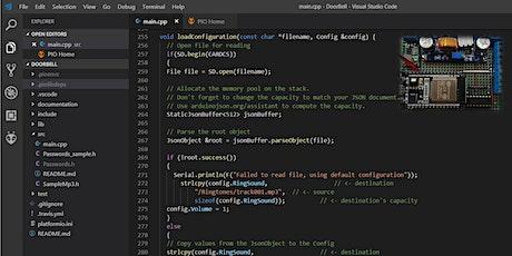 Microcontroller programming with PlatformIO tickets