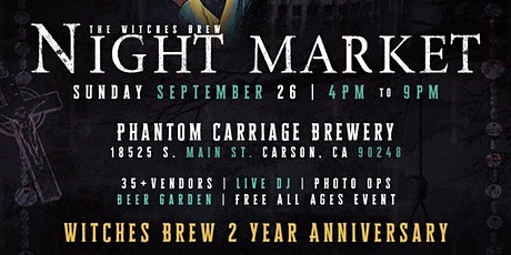 Witches Brew Night Market at Phantom Carriage tickets
