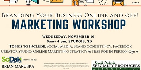 Branding Your Business Online and off! tickets