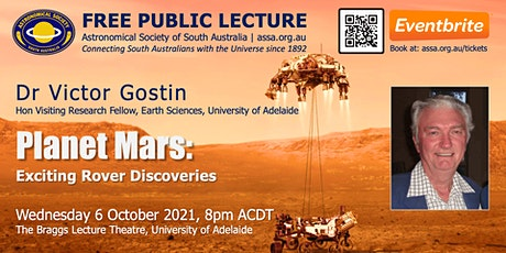 Planet Mars: Exciting New Rover Discoveries by Dr Victor Gostin tickets
