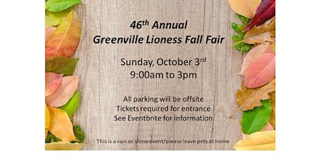 Greenville Lioness Fall Fair tickets
