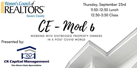 Working with Distressed Property Owners in a post Covid World - CE Mod 6 tickets
