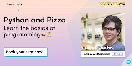 Python and Pizza bilhetes