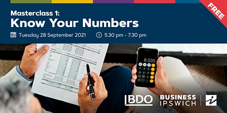 Know Your Numbers- Masterclass tickets