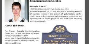 124th Annual Henry George Dinner with Prof. Miranda...