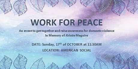 Work For Peace tickets