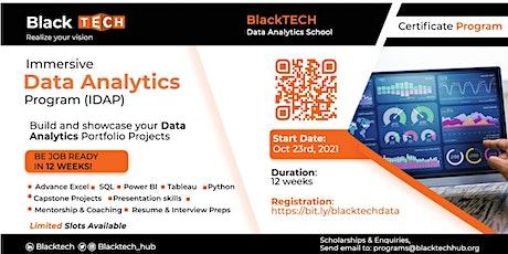 Immersive Data Analytics Program (IDAP) tickets
