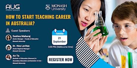 How to start teaching career in Australia? tickets