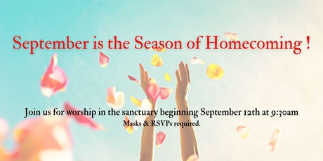 September 19, 2021 Worship tickets