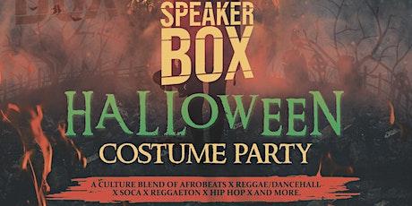 Speakerbox Halloween Costume Party. tickets