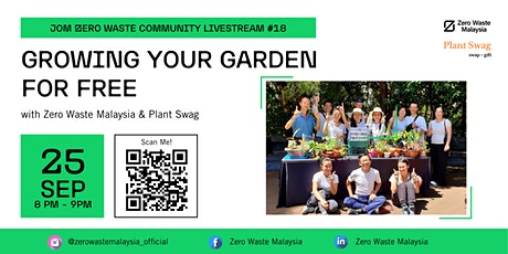 Jom Zero Waste Community Livestream #18: Growing your Garden for free tickets