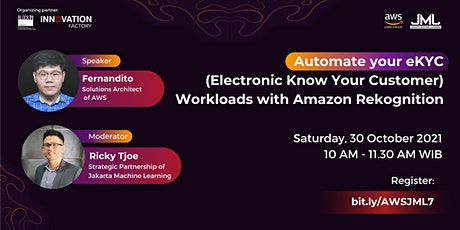 Automate your eKYC Workloads with Amazon Rekognition tickets