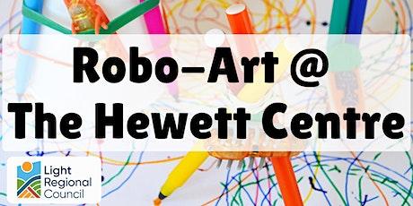 School Holidays - Robo-Art @  The Hewett Centre tickets