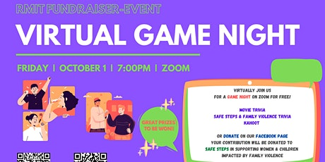 Virtual Game Night - Family Violence Awareness tickets