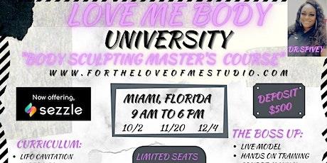 BODY SCULPTING MASTERS COURSE (MIAMI, FL) tickets