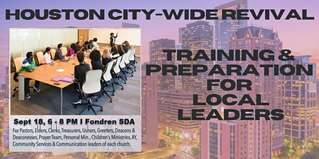 SWRC Houston City-Wide Revival Training & Preparation for Local Leaders tickets