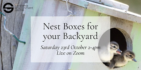 Nest Boxes for your Backyard tickets
