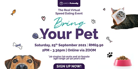 Bring your own Pet: Singles Virtual Zoom Event tickets