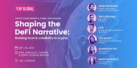 YAP Global Presents: Shaping the DeFi Narrative tickets