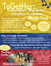 ToGetHer: BIG SISTER ADOPTION FUNDRAISER MUSIC FEST tickets