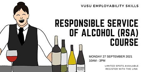 VUSU's FREE Responsible Service of Alcohol Course tickets