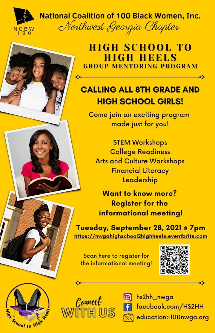 High School to High Heels Group Mentoring Program Informational Meeting image