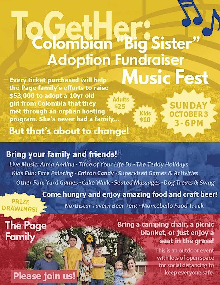 ToGetHer: BIG SISTER ADOPTION FUNDRAISER MUSIC FEST image
