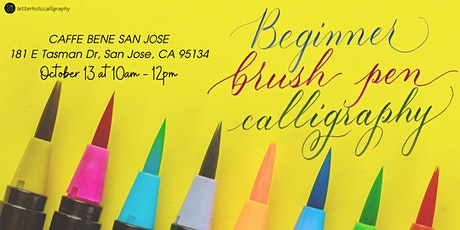Brush Lettering Calligraphy Workshop  San Jose- Halloween Art Lettering tickets