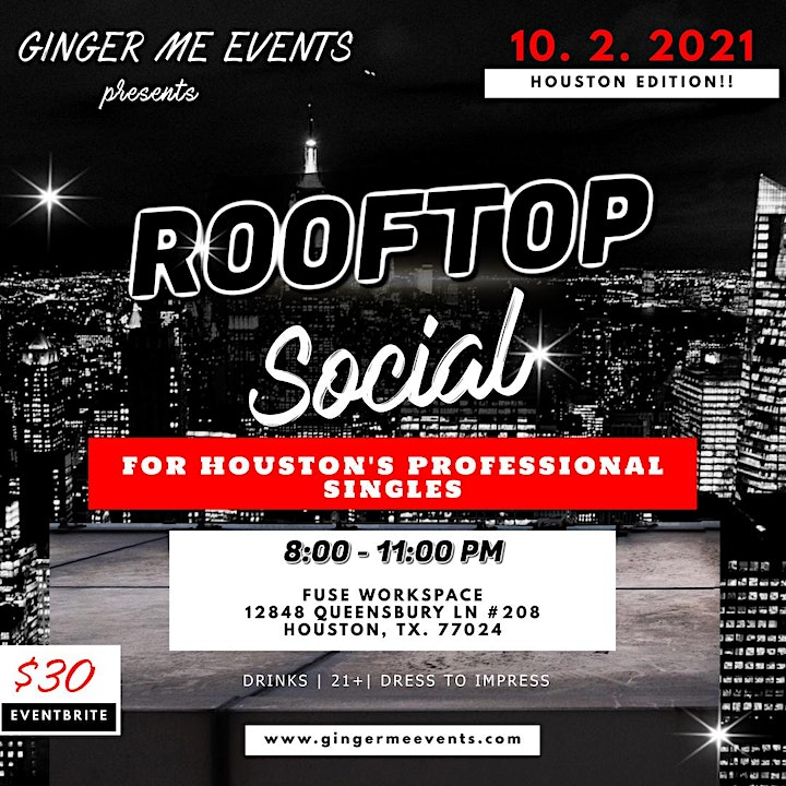 Rooftop Social for Houston's Professional Singles image